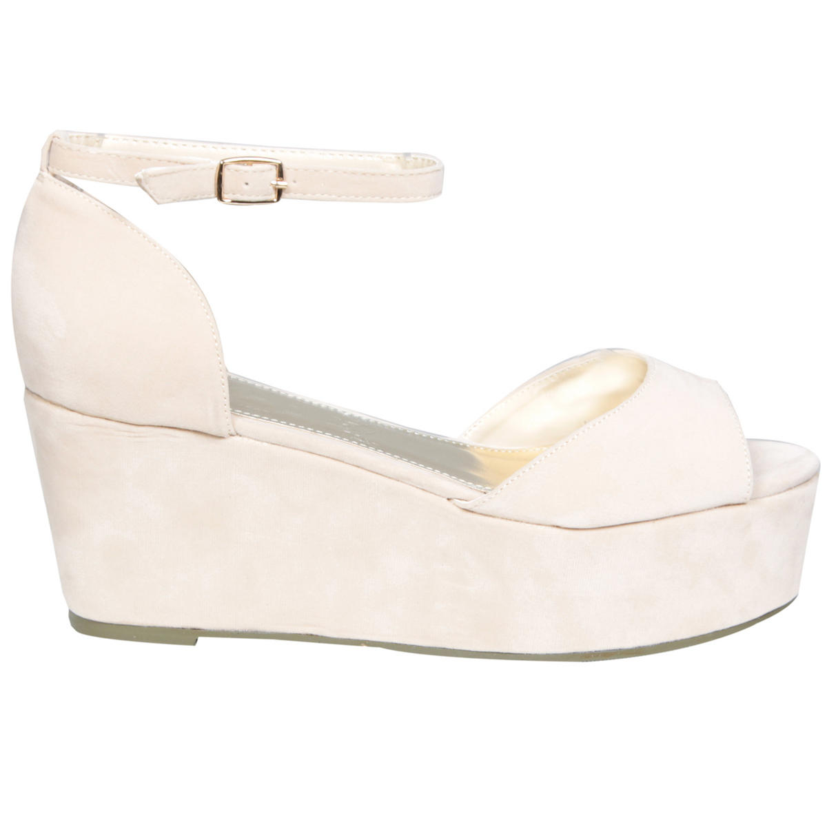 Cream Peeptoe Ankle Strap Flatform Preview